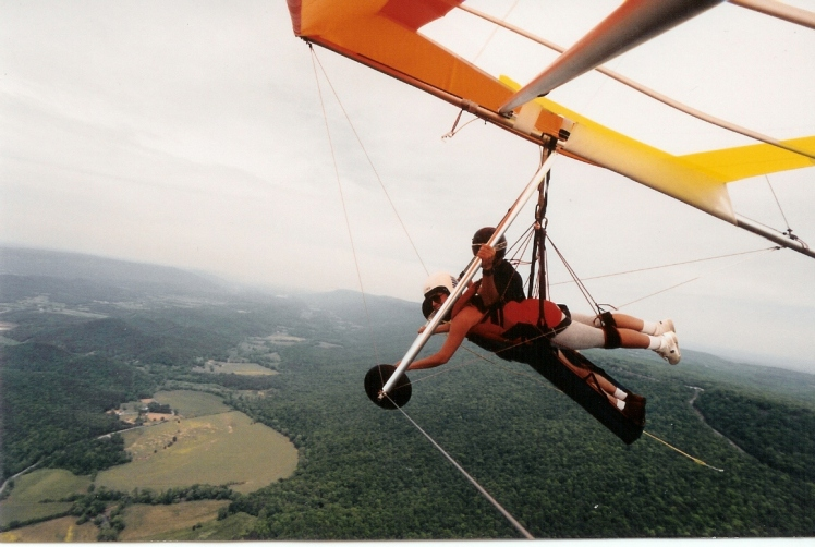 Hang gliding for my 38th birthday - Lookout Mountain, TN.  Literally being lifted up by thermal currents.