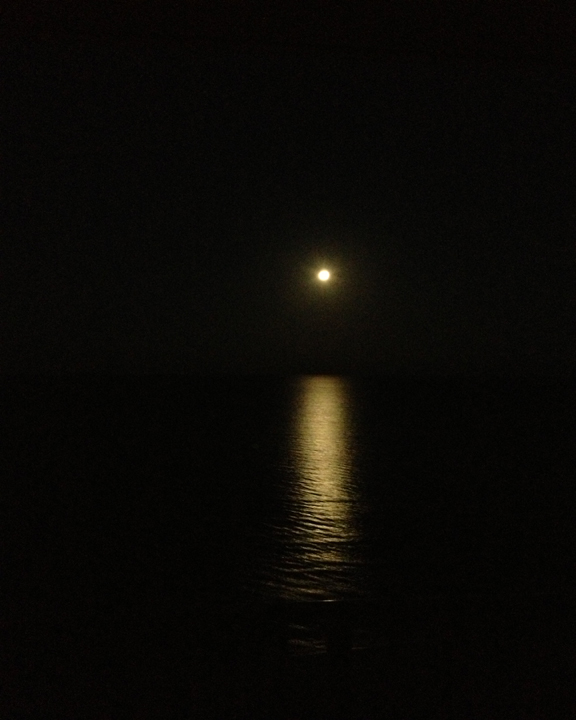 Light in the darkness ... moonset over the Gulf of Mexico Jan. 27, 2013