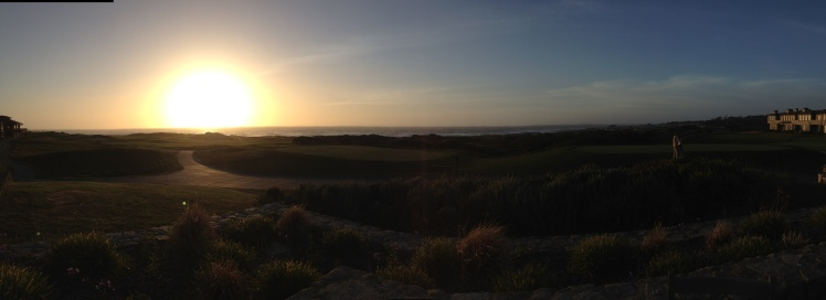 Sunset over Inn at Spanish Bay April 29, 2013 Who knows where this beauty may lead?