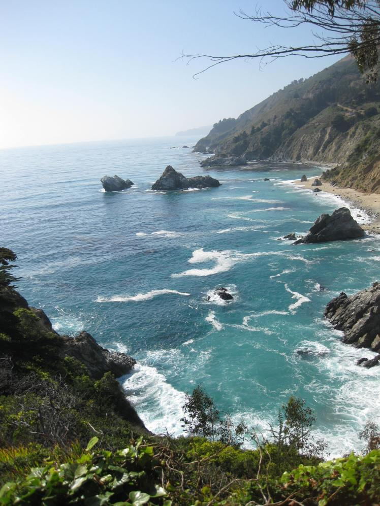 Coastline north of McWay Falls, Big Sur, CA May 1, 2013