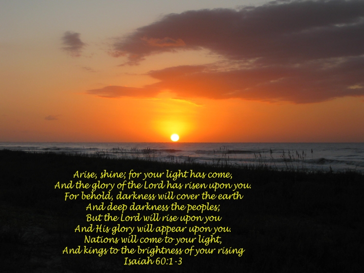 As the new day dawns it is pregnant with hope.