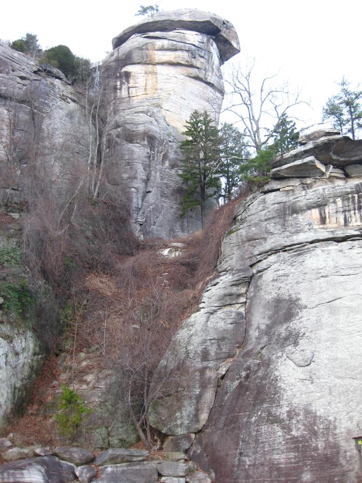 Base of Chimney Rock, NC.  Only 976 steps to the top!