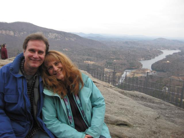 On top of Chimney Rock sharing it with my favorite of God's creation
