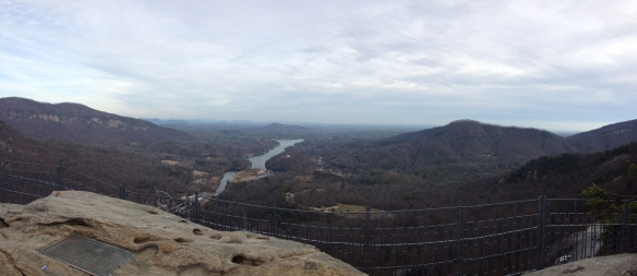 Panorama from top of Chimney Rock, NC