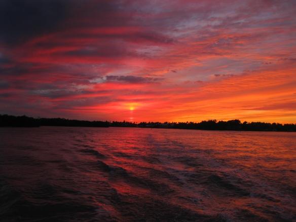 Sunset Mirrored Naples 011714