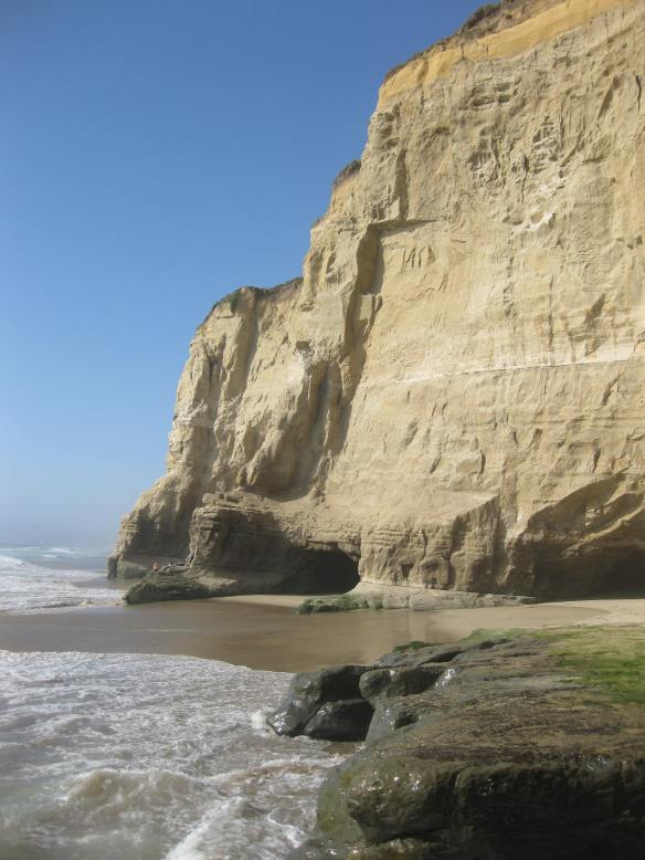 Pompino Beach, CA caves created by the tide