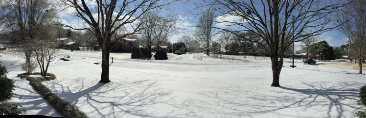"""All that """"white stuff"""" is not snow.  It's 2 inches of slush that froze solid and was then covered by 1/2"""" of ice."""